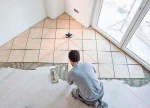 Укладка плитки по диагонали — преимущества и недостатки