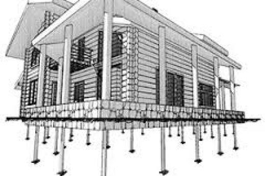 Гидроизоляция фундамента и фундамент на винтовых сваях
