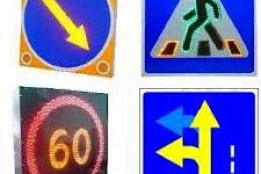 Дорожные табло и знаки на светодиодах